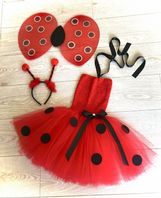 Ladybird tutu dress costume tulle skirt wings headband set girls animal fancy dress cake  smash